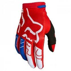 RĘKAWICE FOX 180 SKEW WHITE/RED/BLUE L