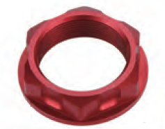 Accel nakrętka górnej półki - Honda CRF 450X (05-10) - czerwony