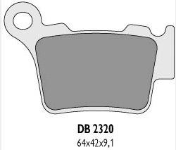 Delta Braking KTM EXC 525 04-07 klocki hamulcowe tył