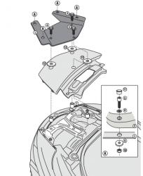 KAPPA stelaż kufra centralnego Suzuki  Burgman 650 '13
