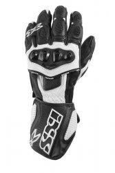 IXS RS-300 RĘKAWICE MOTOCYKLOWE SPORTOWE BLACK/WHITE