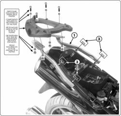 KAPPA stelaż kufra centralnego Kawasaki ZZR 1200