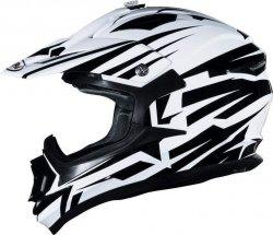 Shiro MX-734 Bravo kask motocyklowy enduro biało-czarny