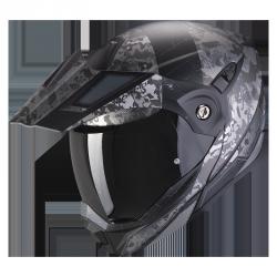 SCORPION ADX-1 BATTLEFLAGE MAT (BK/SILVER) KASK MOTOCYKLOWY SZCZĘKOWY
