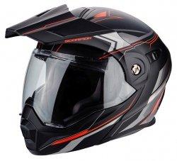 Scorpion ADX-1 ANIMA kask motocyklowy szczękowy z daszkiem Dual Touring Adventure czarny-czerwony