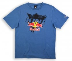 KINI RED BULL Interlaced Navy T-Shirt koszulka niebieska