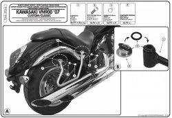 KAPPA stelaż pod sakwy boczne Kawasaki VN 900- VN 900 Classic (06-08)