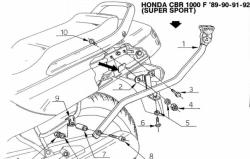 KAPPA K2270 stelaż kufra centralnego Honda CBR 1000F (89-00)