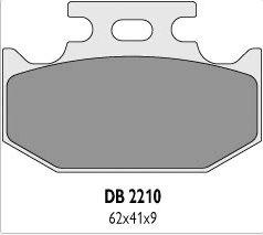 Delta Braking KAWASAKI 125/250 KX (89-94) klocki hamulcowe tył