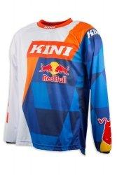 Koszulka MX cross Kini Red Bull Vintage pomarańczowo-niebieska