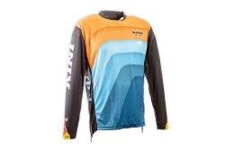 Koszulka MX cross Kini Red Bull Vintage pomarańczowo-niebieska-czarna