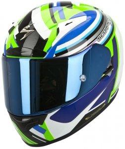 Scorpion Exo-2000 AIR AVENGER kask motocyklowy czarny-biały-zielon<br />y-niebieski