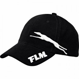 FLM czapka z daszkiem czarna bawełniana