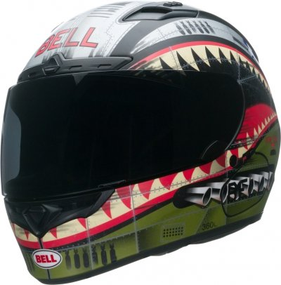 BELL QUALIFIER KASK MOTOCYKLOWY DLX DEVIL MAY CARE OLIVE MATT
