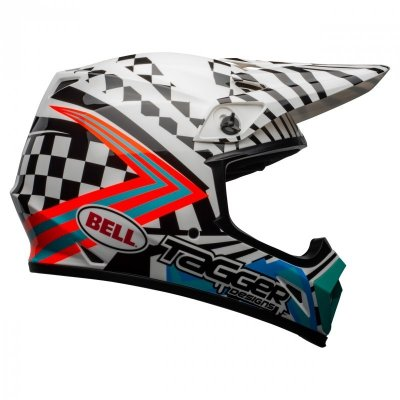KASK BELL MX-9 MIPS TAGGER CHECK ME OUT GLOSS WHITE/BLACK L