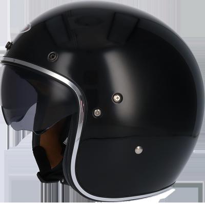 SHIRO KASK MOTOCYKLOWY SH-235 BLACK GLOSS CZARNY POŁYSK