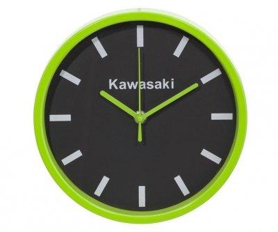Kawasaki Zegar ścienny na ścianę czarno-zielony