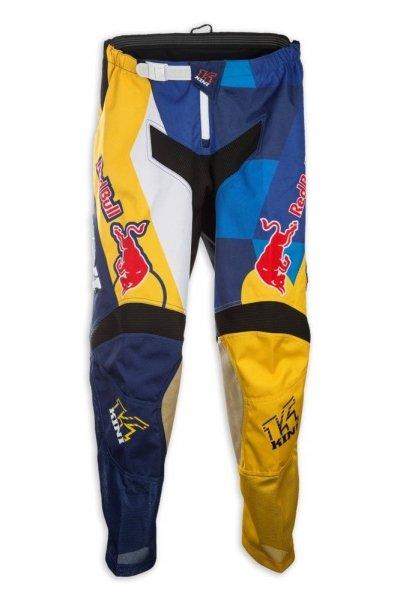Kini Red Bull Vintage spodnie MX cross żółto-niebieskie
