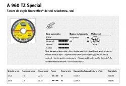 KLINGSPOR TARCZA DO CIĘCIA METALU 125mm x 1,0mm x 22,2mm A960 TZ Special