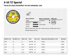 KLINGSPOR TARCZA DO CIĘCIA METALU 125mm x 1,0mm  A60 TZ Special