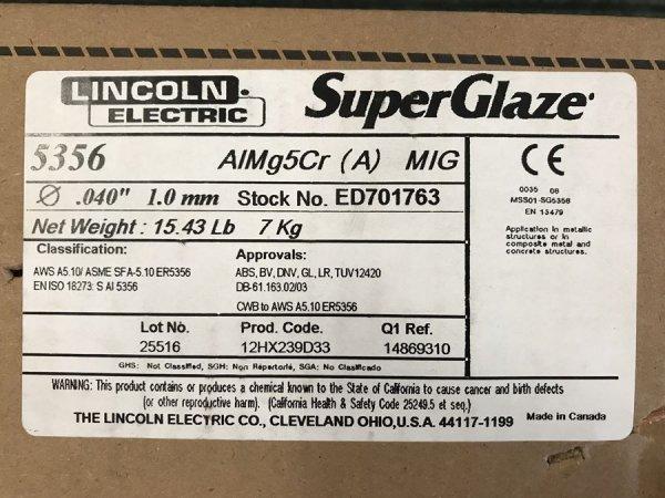 Drut spawalniczy ALMg5 1,0/7 kg Lincoln Electric
