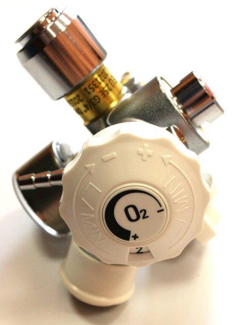 Zawór Tlen 25E (duży czop) G3/4 230 bar ze zintegrowanym reduktorem PERGOLA najwyższa jakość