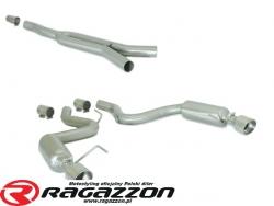 CATBACK tłumik środkowy przelotowy Y pipe i końcowy bez homologacji RAGAZZON EVO LINE sportowy wydech