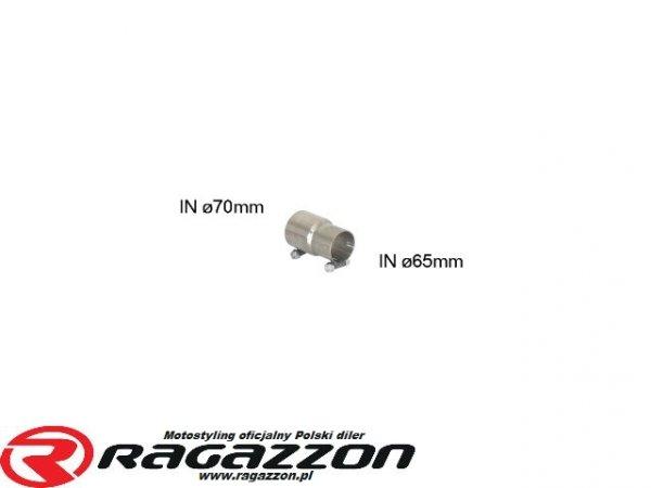 Złączka adapter przejściówka wydechu RAGAZZON 70mm na 65mm sportowy wydech