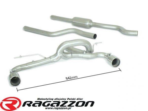 CATBACK tłumik środkowy i końcowy RAGAZZON EVO LINE RIEGER sportowy wydech