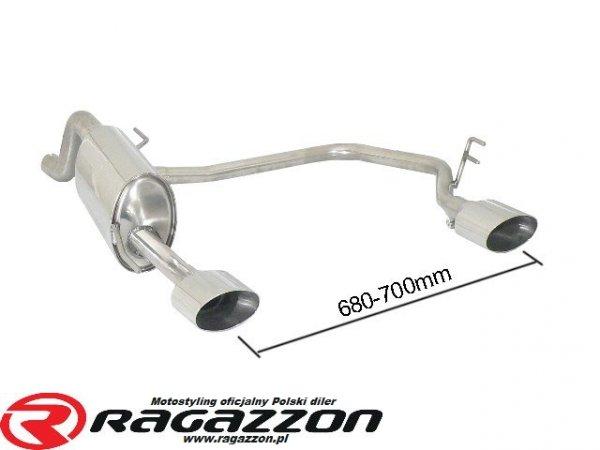 Tłumik końcowy RAGAZZON TOP LINE CADAMURO / LESTER / Trc Performance sportowy wydech