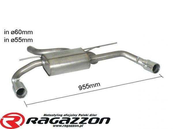 Tłumik końcowy podwójny RAGAZZON TOP LINE RIEGER sportowy wydech