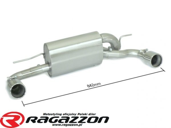 Tłumik końcowy podwójny RAGAZZON EVO LINE RIEGER sportowy wydech
