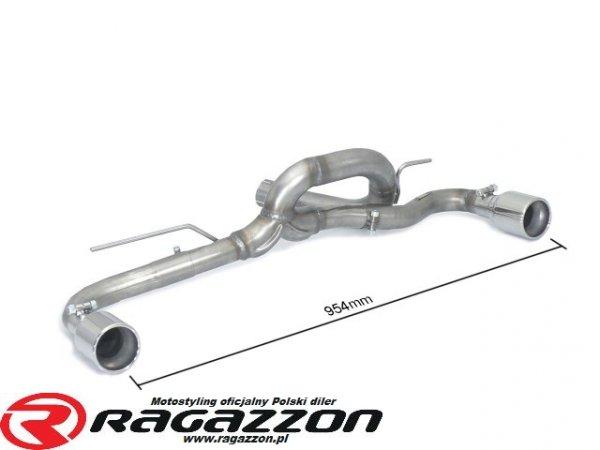 Tłumik końcowy podwójny przelotowy RAGAZZON EVO LINE sportowy wydech