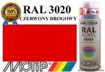 MOTIP lakier farba czerwony drogowy połysk 400 ml akrylowy acryl szybkoschnący RAL 3020