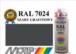 Lakier farba szary grafitowy połysk 400 ml akrylowy acryl szybkoschnący RAL 7024