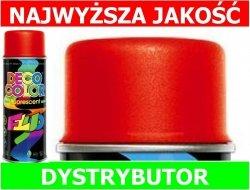 LAKIER FARBA FLUORESCENCYJNY FLUO spray CZERWONY 400 ml