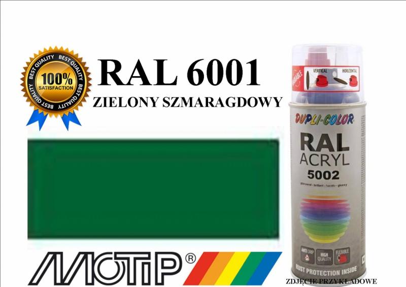 Lakier farba zielony szmaragdowy połysk 400 ml akrylowy acryl szybkoschnący RAL 6001