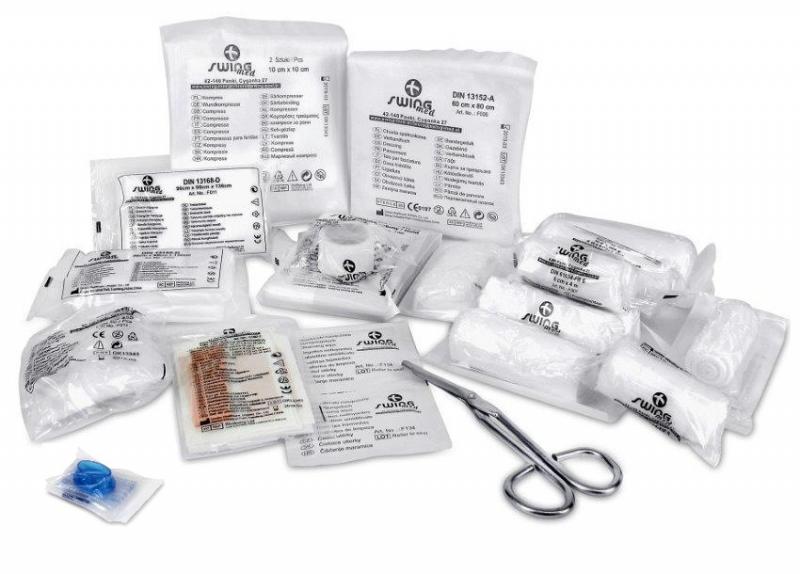 Wkład apteczki (wyposażenie) - DIN 13164+