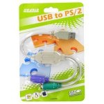4World Adapter 2 porty PS2 (klawiatura i mysz) na port USB