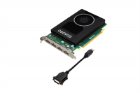 PNY NVIDIA Quadro M2000, 4GB GDDR5 (128 Bit), 4xDP, PCI-E 3.0, DP to DVI adapter