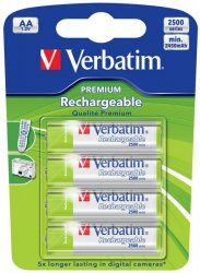 Verbatim AA RECHARGEABLE BATTERIES 4 PACK VERBATIM