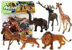 Zestaw Zwierząt Dzikie Zwierzęta 6 elementów