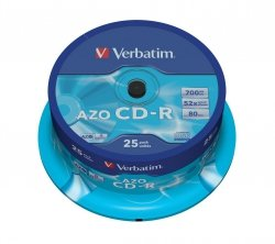 CD-R 52x 700MB 25P CB DLP Crystal 43352