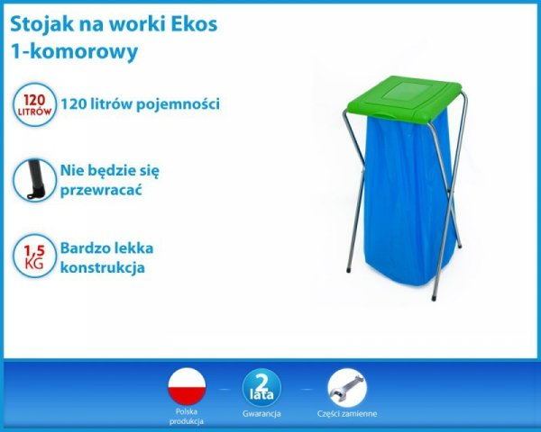 STOJAK NA WORKI EKOS 1 BLUE