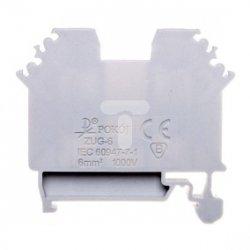 Złączka szynowa gwintowa ZUG-G 6 szara R34RR-01010111001