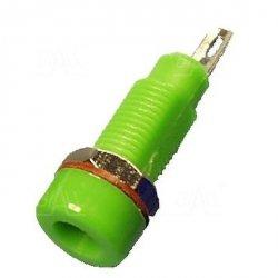 Gniazdo panelowe 4mm GL5-GN 10A, zielone    SCI