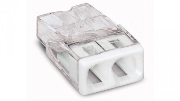 Szybkozłączka 2x 0,5-2,5mm2 transparentna 2273-202 /100szt./