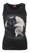 Yin Yang Cats - Razor Top Spiral - Damska