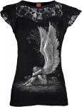 Enslaved Angel - Lace Sleeve Top - Spiral