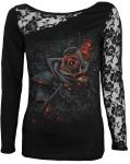 Burnt Rose - Lace One Shoulder Spiral - Damska